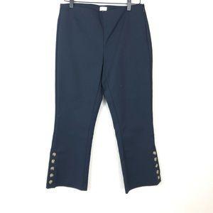 New Ecru Mercer Crop Pants Navy sz 8